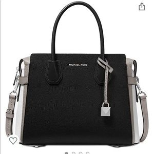 Michael Kors tri-color belted satchel
